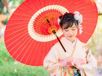 成人式前撮り  奈良公園 吉城園