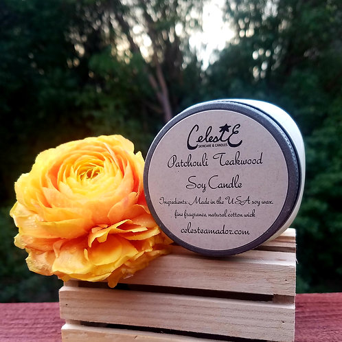 Patchouli Teakwood Soy Candle