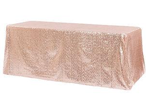 Sequin Tablecloth Rentals - Over the Moon Wedding & Event Rentals