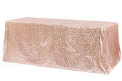 Rose gold sequin tablecloth - Over the Moon Wedding & Event Rentals | Vancouver