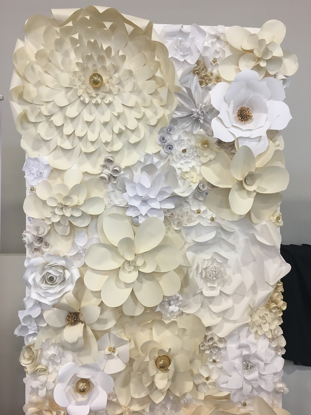Paper Flower Wall Over the Moon Wedding & Event Rentals Vancouver