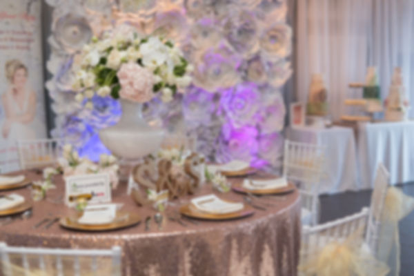 Sequin tablecloth & charger plates - Over the Moon Wedding & Event Rentals