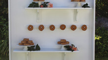 Donut Display Wall: A sweet treat
