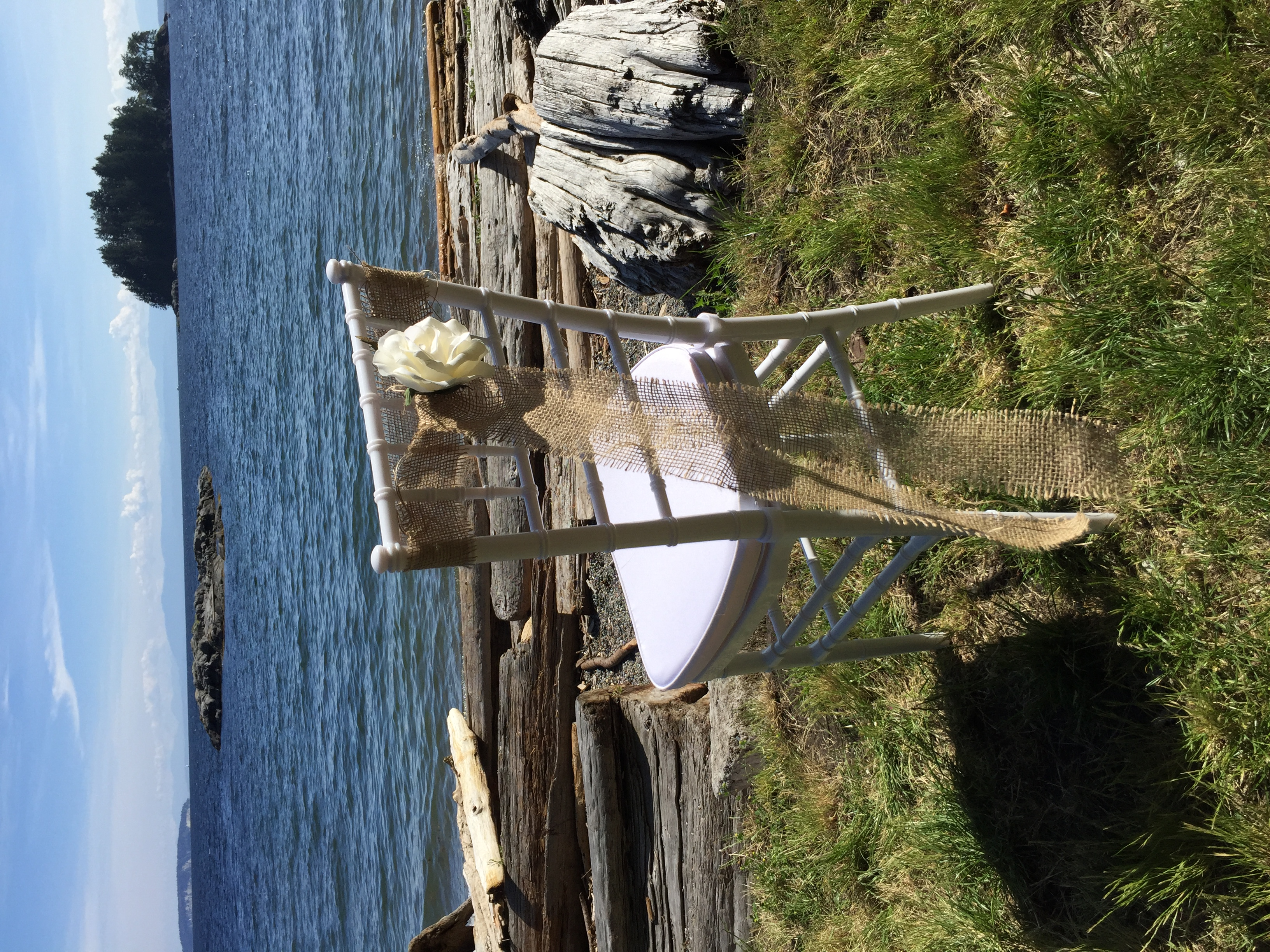 Pender Harbour Wedding Chair Rentals
