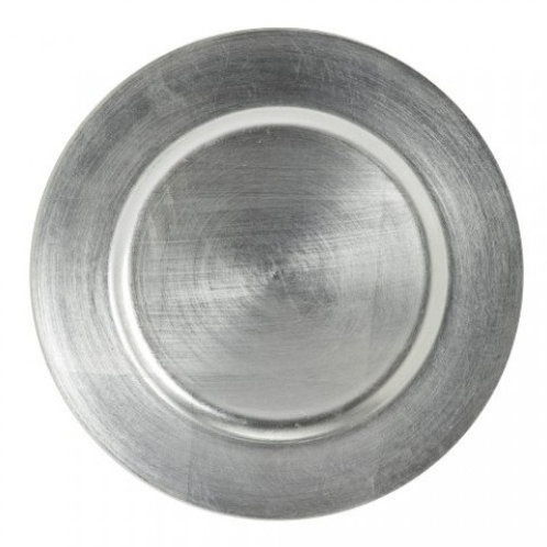 """Silver Resin 13"""" Charger Plate"""