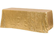 Gold sequin tablecloth - Over the Moon Wedding & Event Rentals | Vancouver