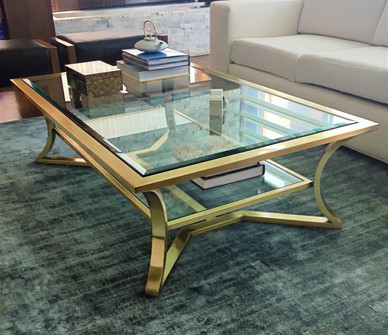 Custom Brushed Brass Cocktail Table .jpg