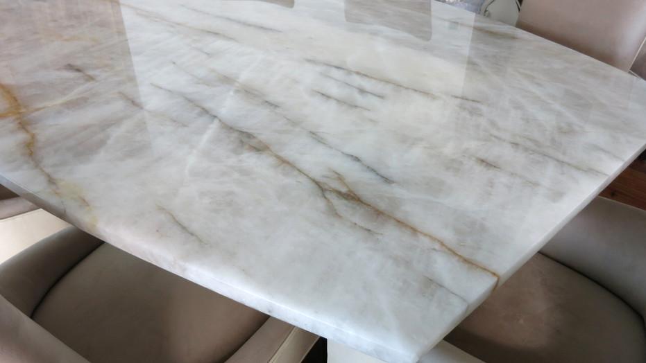 Custom Crystal Quartz Dining Table Top.j