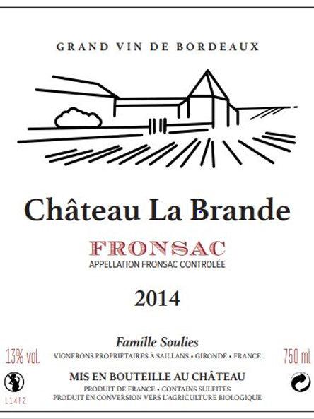 6 btl Château La Brande Fronsac Tradition 2014