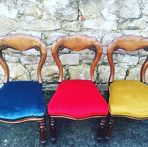 Jewel velvet dining chairs