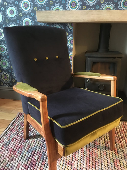 Mid Century (1957) Parker Knoll chair - refurbished and reupholstered