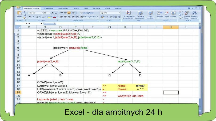 Excel dla średnio zaawansowanych 24 godziny lekcyjne.