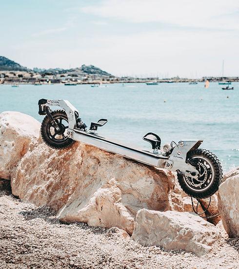 Curvway - Présentation en bord de plage