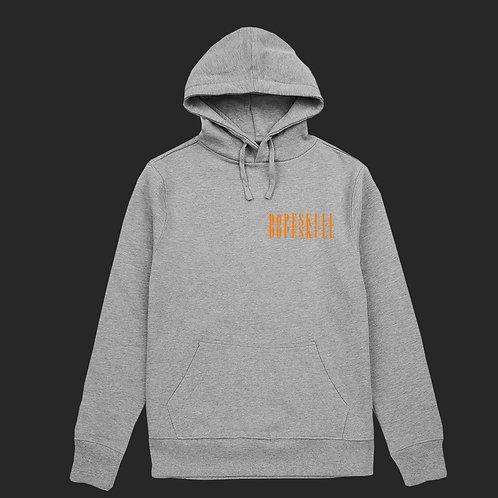 Grey And Orange Dopeskull Tracksuit Short Set