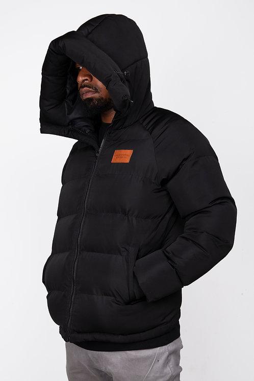 Black Dopeskull Puffer Jacket