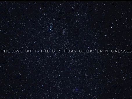 New Podcast Episode: The One With the Birthday Book: Erin Gaesser
