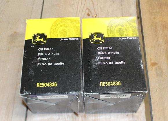 John Deere Oil Filters RE504836 (pair)