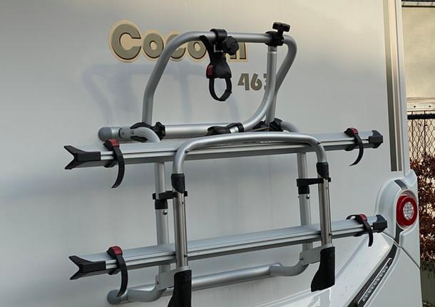 Fietsenrek geschikt voor 2 elektrische fietsen.