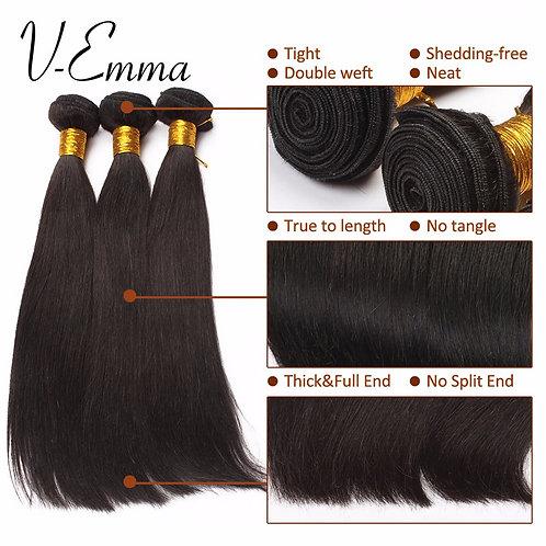 7A Peruvian Virgin Hair Straight 1pcs Machine Double Weft Straight Human Hair We