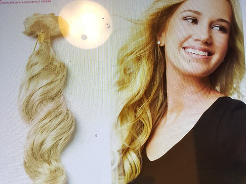 """Clip in human hair extensions wavy clip in 16"""""""