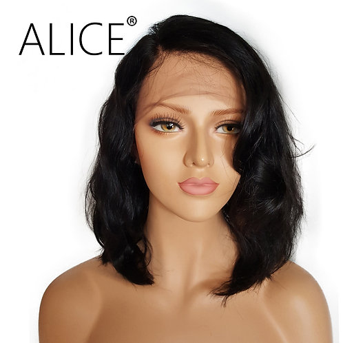 ALICE Short Glueless Lace Front Human Hair Wigs With Baby Hair 8 Inch to 16 Inch
