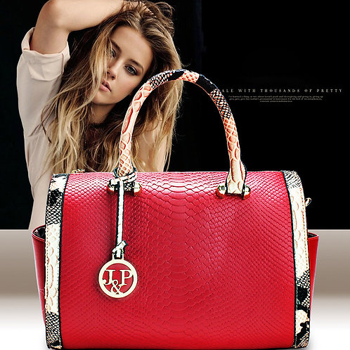 Fashion Serpentine Women Bag High Quality PU Leather