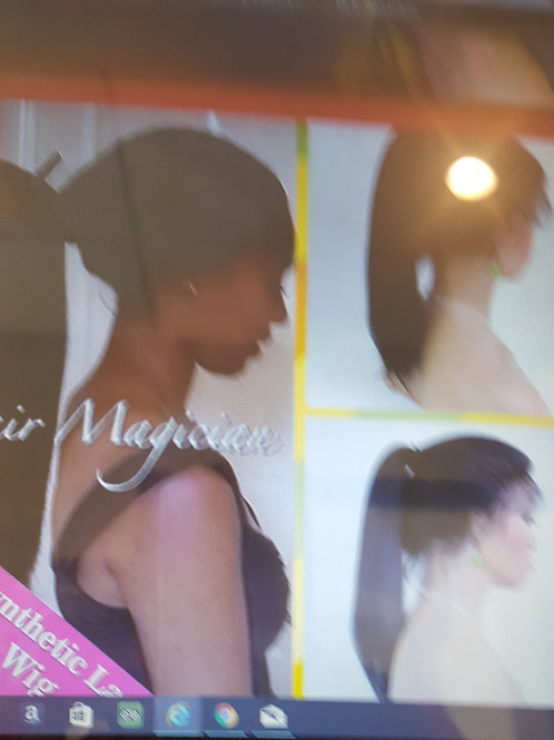 front lace wig with baby hair natural hairline #1B