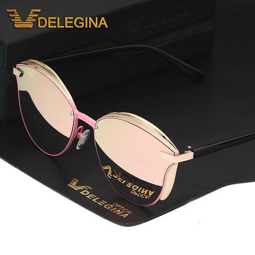 Fashion Female Polarized Sunglasses Women Cat Eye Glases Ladies Sun Glasses Mirr