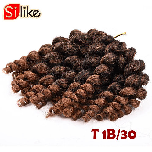 Silike 22 Roots Ombre Jamaican Bounce Crochet Braids 8'' Jumpy Wand Curl Hair Ex
