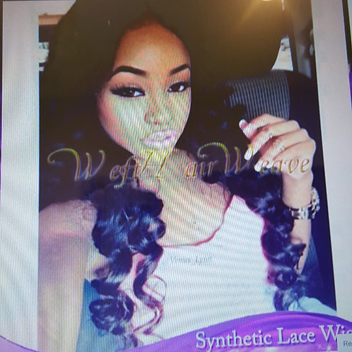 Synthetic Lace Front Wig Heat Resistant Afro Loose