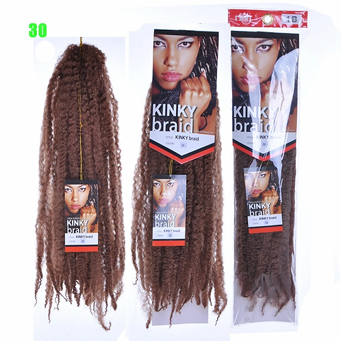 Best Quality 18inch 65g Soft Silky Afro Synthetic Marley Hair Braid Natural Hair