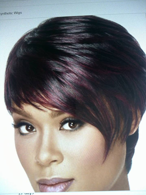 Red Fro short pixie cut style wigs