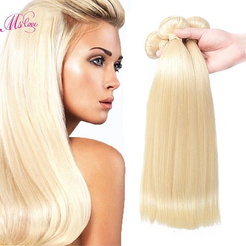 Mslove #613 Blonde Virgin Hair 1 PCS 7A Brazilian Straight Hair Weave