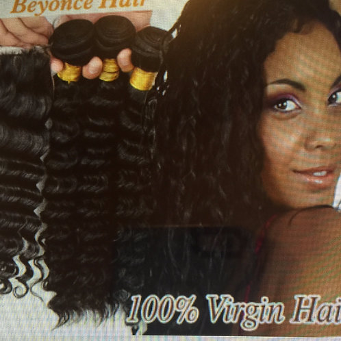 7A Malaysian Curly Hair with Closure 4pcs/lot,