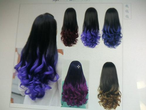 """28"""" 280g woman 3/4 full head long wavy wigs"""