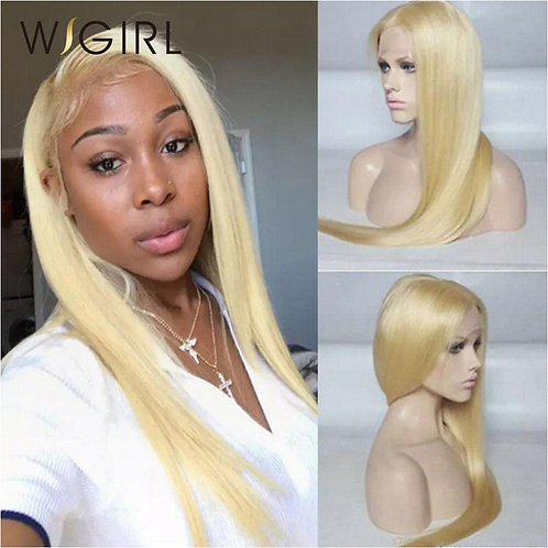 Wigirl Hair Straight 613 Lace Front Wig With Baby Hair Blonde Wig