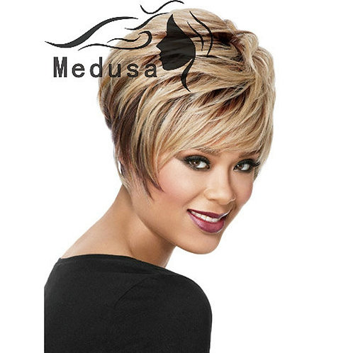Medusa short blonde bob wig