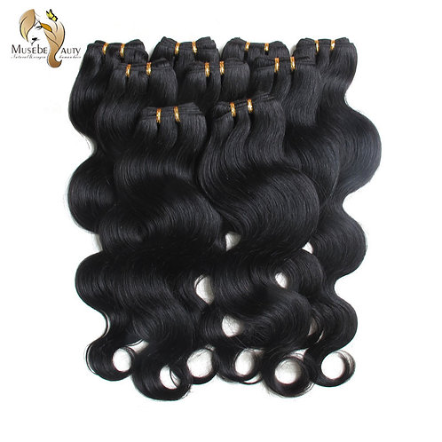 Malaysian Human Hair Extensions Muse Hair Body Wave 50g Color#1b 18