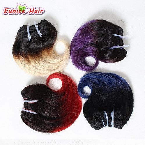 T1B/27 Brazilian Hair Body Wave 4pcs 8inch 100g Brazilian Hair Weave Bundles Omb