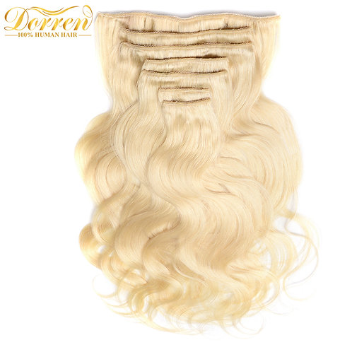 Doreen Full Head Brazilian Remy Human Hair Clip In Extension #60 120G Double Wef