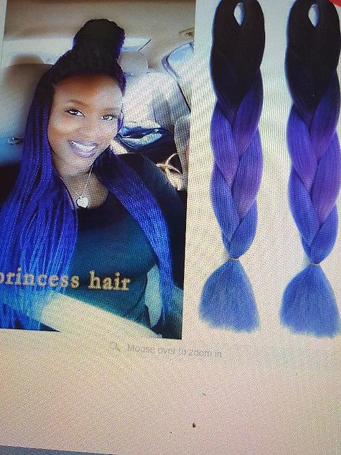 Purple Ombre Kanekalon Jumbo Braiding Hair Styles