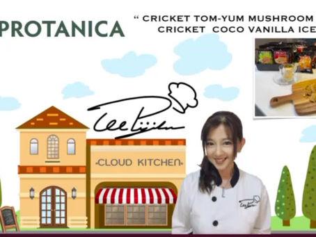 Protanica Cricket Powder in Tom-Yum Mushroom Soup & Cocoa Vanilla Ice-cream by Chef Lee Pijika