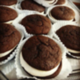 Chocolate & Marshmallow Cream Whoopie Pies!!__jilliciousdesserts_#chocolate #whoopiepies #marshmallo
