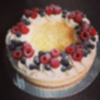 10-inch White Chocolate Cheesecake with seasonal fresh fruit!!__jilliciousdesserts_#customerorder #o