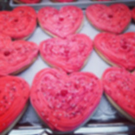 Valentine Heart Sugar Cookies!!__jilliciousdesserts_#cookies #hearts #valentinesday #sugarcookies #p
