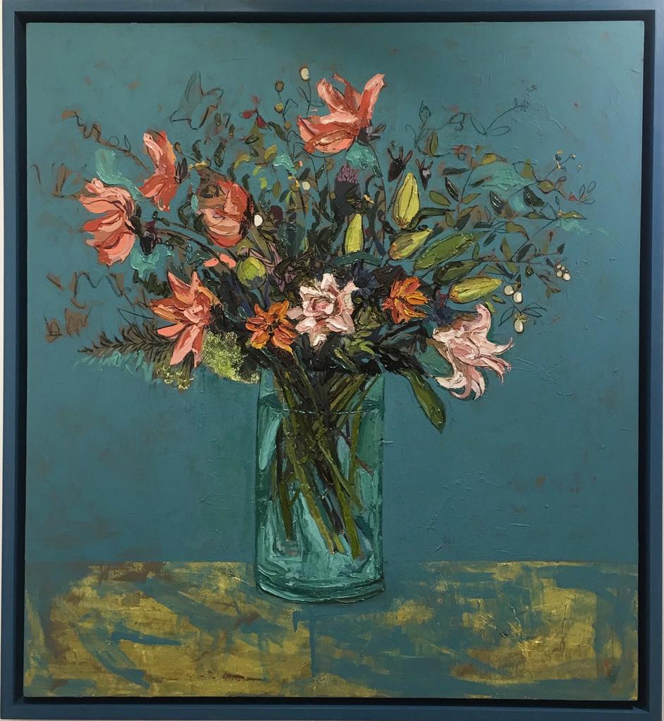 Marine Blue Lilies