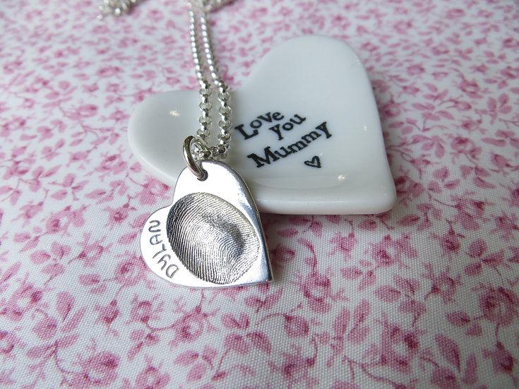 Fingerprint Pendant without necklace