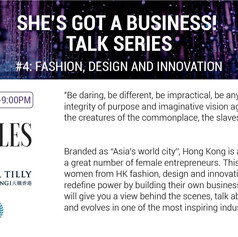 She's got a business! Talk #4: Fashion, Design and Innovation