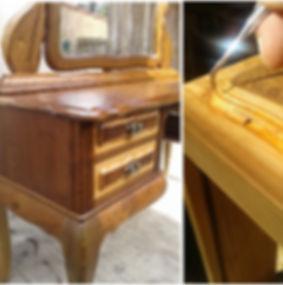Resturo artesanal de móveis de madeira