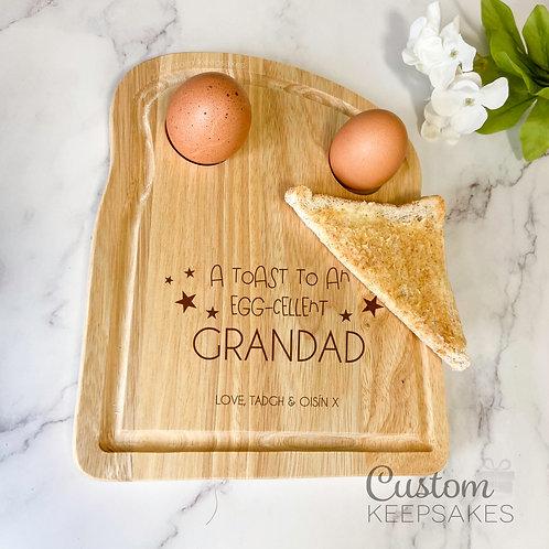 Toast to An Eggcellent Grandad Breakfast Board